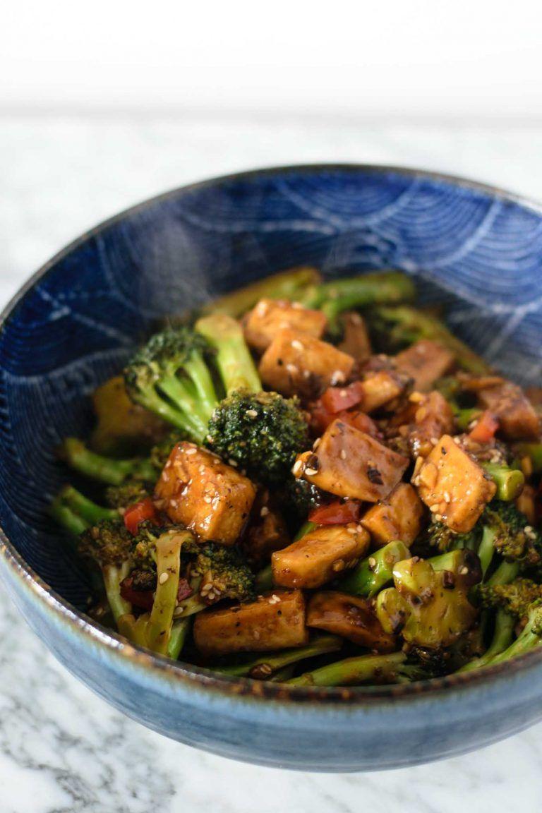 Broccoli and Tofu with Black Bean Sauce