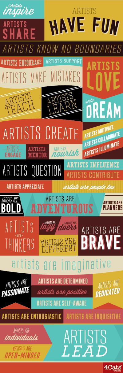 What the world needs? Creative people Artist, Art music