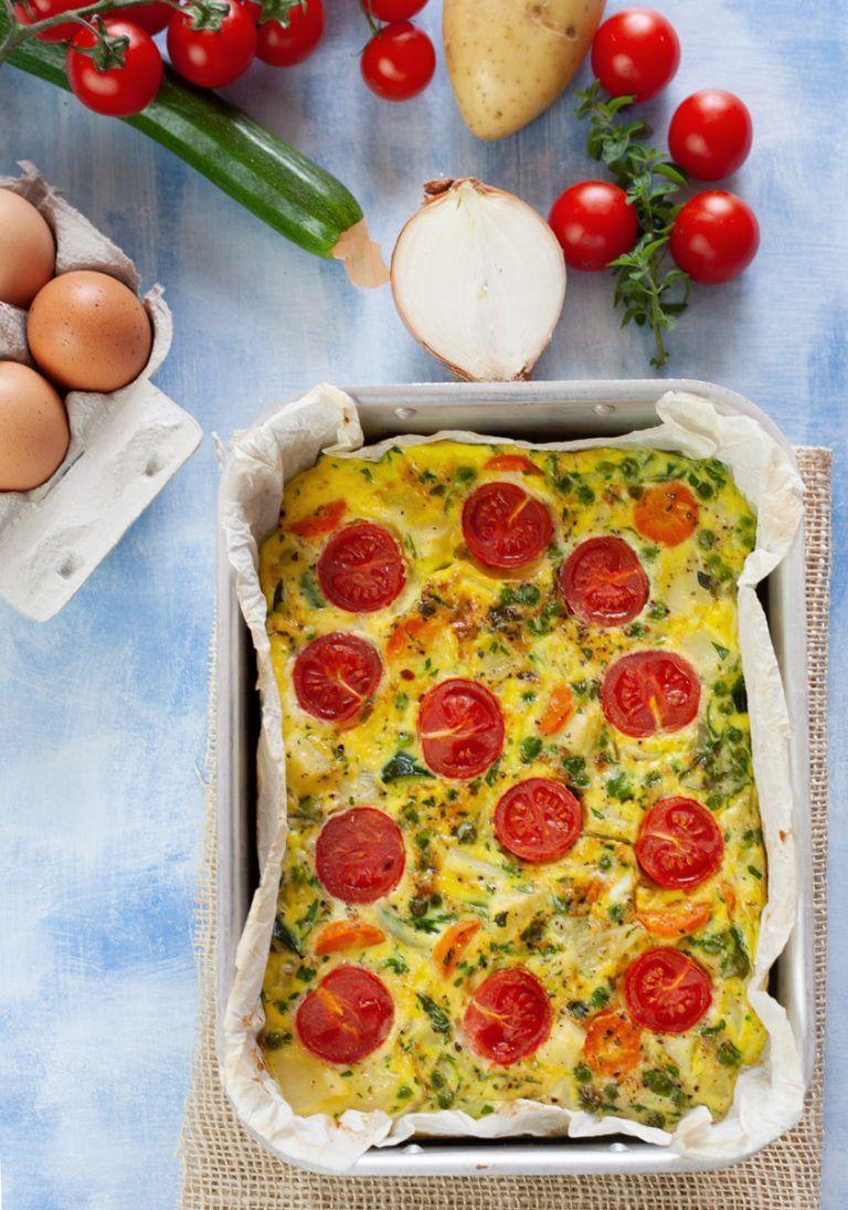 Photo of Baked vegetable omelette, vegetarian and light recipe