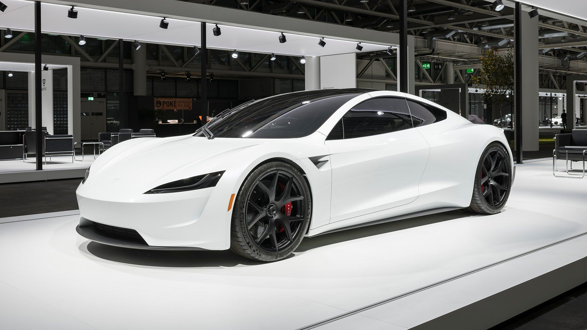 2020 Tesla Roadster Wears White After Labor Day for