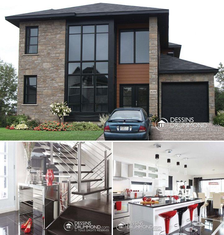 Galerie Photos De Plan Sur Mesure Modern House Plans Custom Home Plans House Blueprints