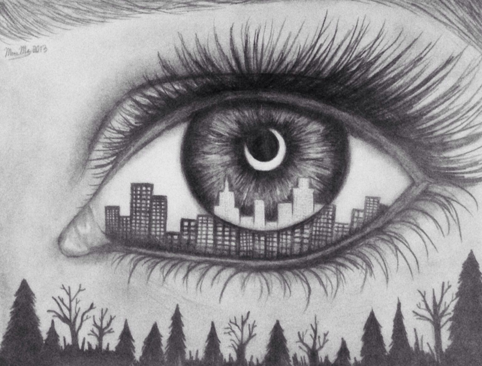 Man Vs Nature Who Will Win Eye Art Eye Drawing Cool Drawings