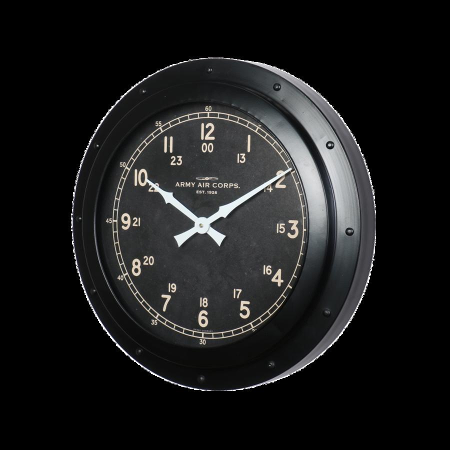 Army Air Corp Black Wall Clock Clock Wall Decor Clock