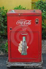 Old-school Coke machine