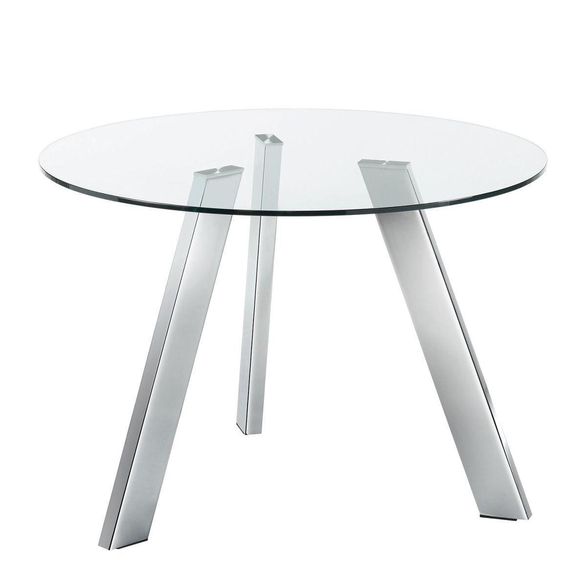 Esstisch Lolove - Glas / Stahl - Chrom - Ø 110 cm, Fredriks Jetzt ...