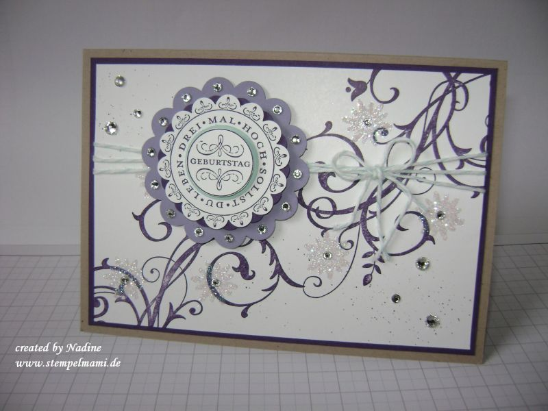 Geburtstagskarte stampin up 101 flowering flourishes for Pinterest geburtstagskarte