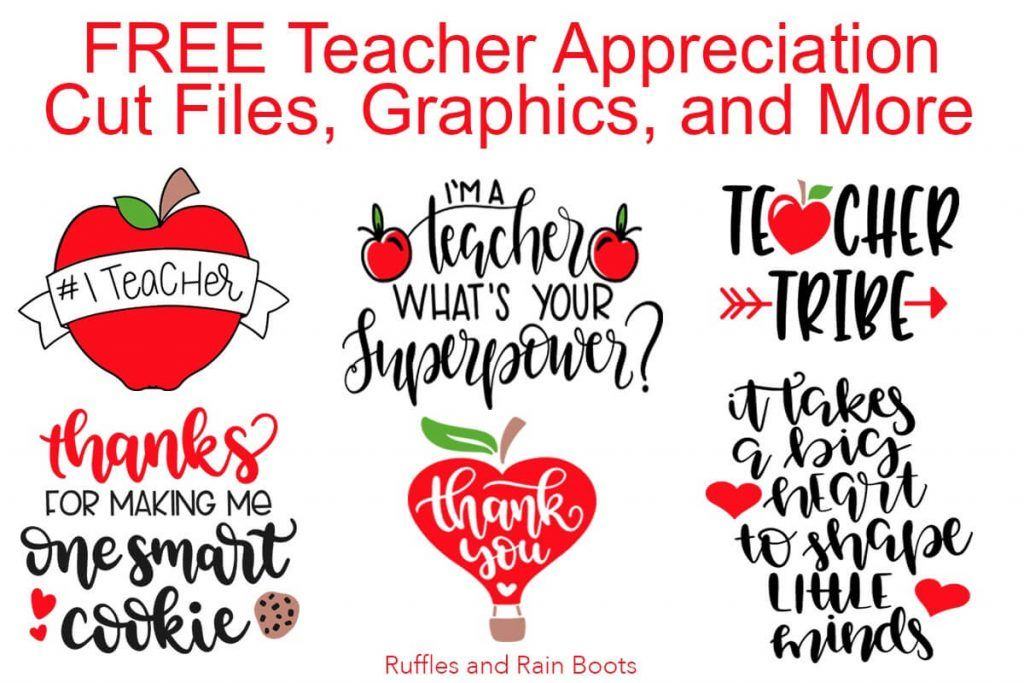 Free Teacher SVG Files Appreciation Week & Back to