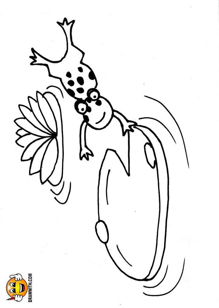 Free Lily Pad Frog Coloring Pages For Kids Which Includes A Color
