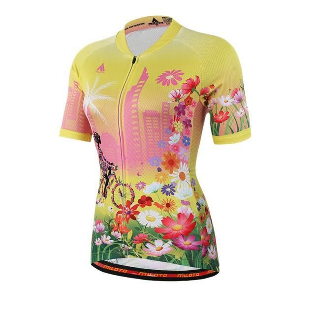 b839a1a52 Miloto Womens Short Sleeve Cycling Jersey Ropa Ciclismo Mtb Bike Jersey  Clothes Maillot