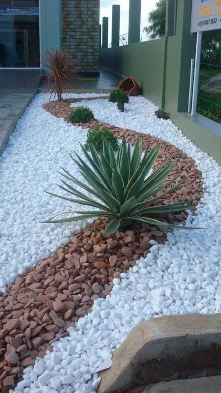 Beautiful Low Maintenance Front Yard Garden and Landscaping Ideas 28 is part of Front yard landscaping design, Rock garden landscaping, Front yard garden, Backyard landscaping designs, Modern garden design, Modern garden - Beautiful Low Maintenance Front Yard Garden and Landscaping Ideas 28