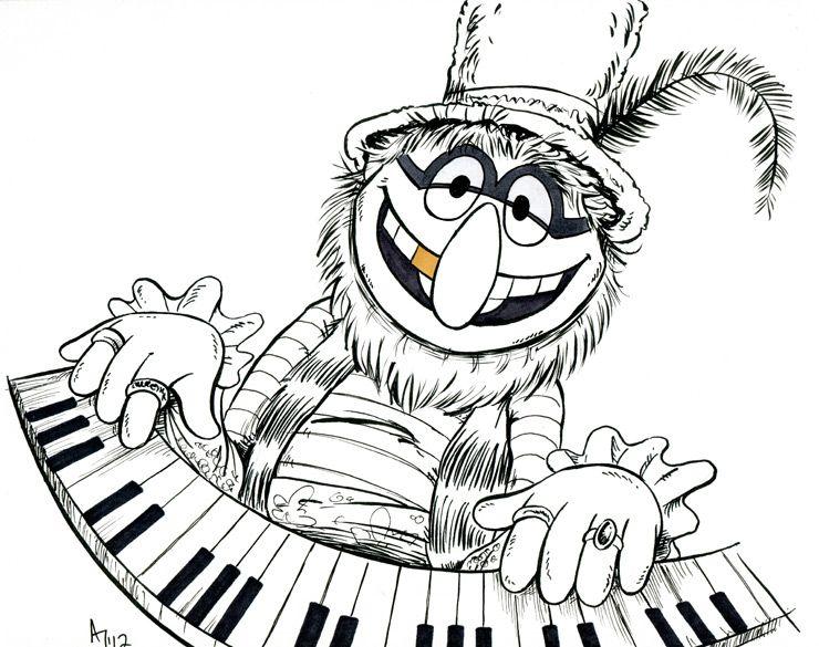 Electric Mayhem Dr Teeth By Atlantajones Deviantart Com On Deviantart Cartoon Coloring Pages Horror Artwork Muppets Band