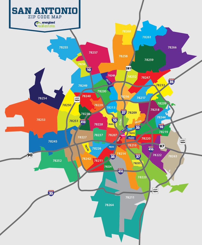 Great Zip Code Map Of San Antonio San Antonio Texas Pinterest - Free map of united states zip codes