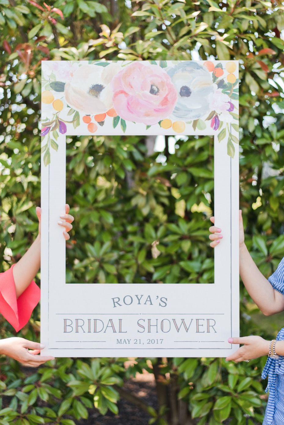 bridal shower idea make a photo prop for you and your besties to take pictures with