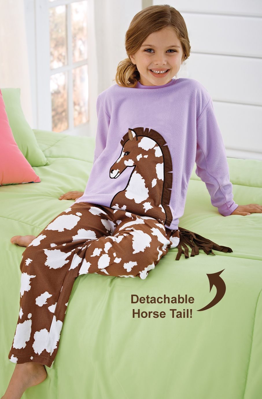 52adad56ea32 From CWDkids  Horse Pajamas with Detachable Tail - She wants the ...