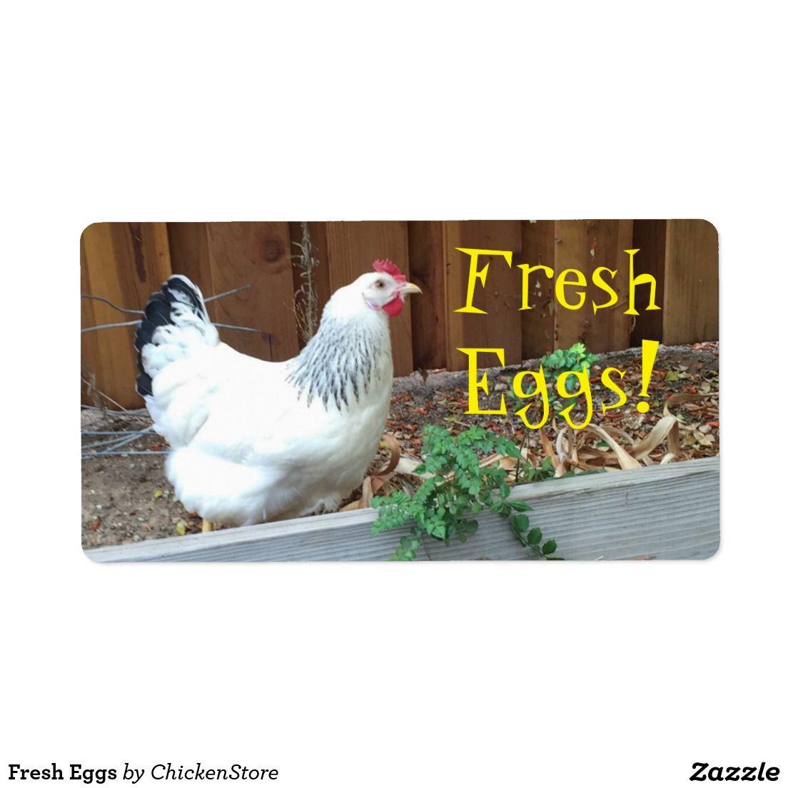 Fresh Eggs Label