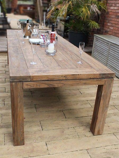 Reclaimed Garden Furniture York 28m large teak dining table 799 pinterest garden furniture workwithnaturefo