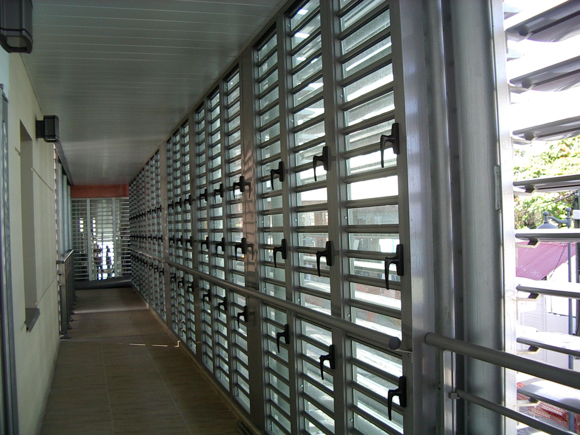 JALOUSIE : A Window Or Door Blind Made Of Fixed Or Movable Horizontal Slats.