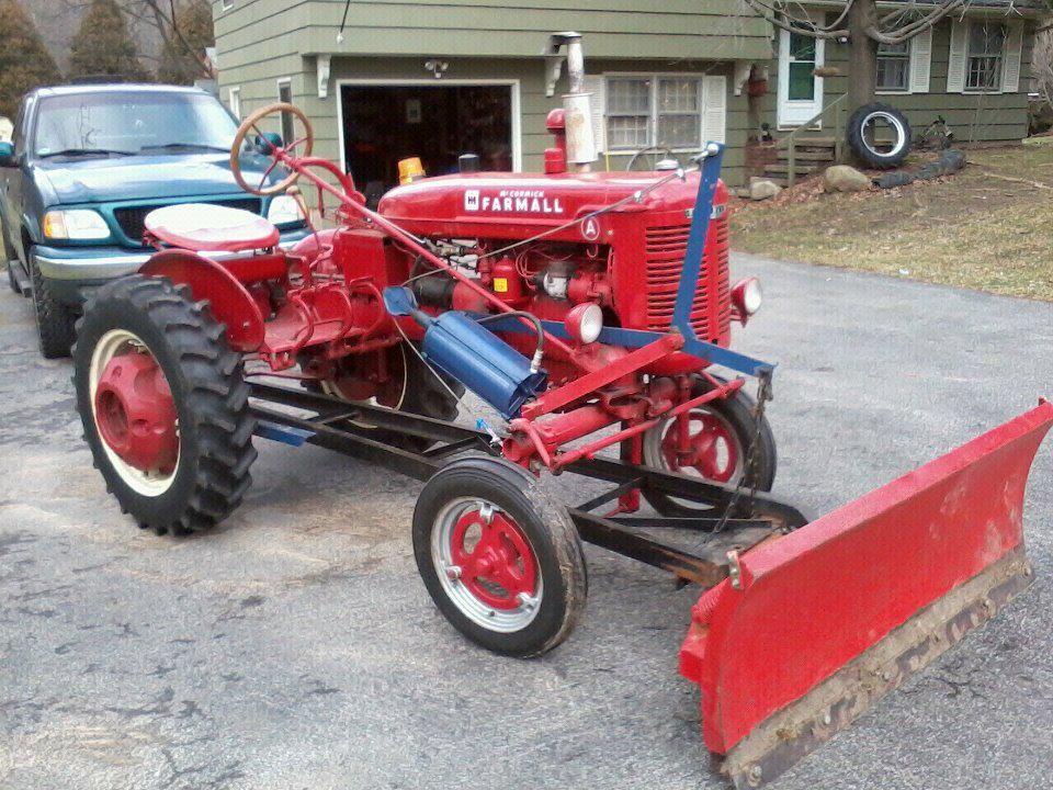 Farmall A With Plow Farmall International Harvester Tractors