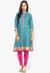 cb69144eb99 Rangmanch By Pantaloons Blue Printed Kurta Online Shopping Store ...