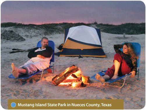 Texas Mustang Island Beach State Park Camping | Beach ...