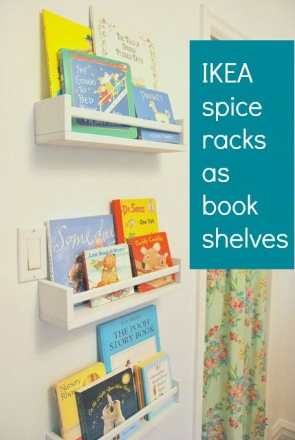 How To Use IKEA Spice Racks For Books (or the easiest DIY
