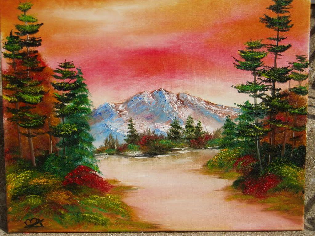 Original watercolor art for sale - Bob Ross Original Paintings