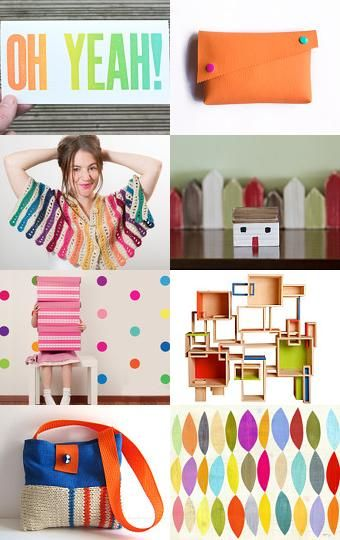 Colour is contagious Etsy collection