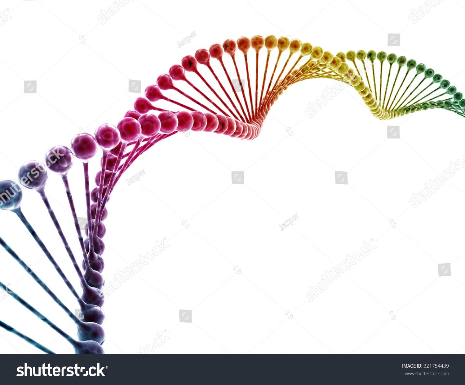 DNA multi color isolated on white background Ad , AD,