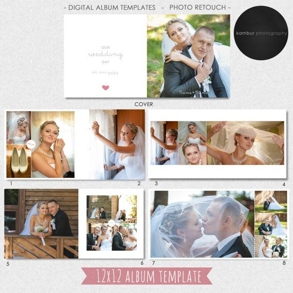 12x12 40 Pages Wedding Al Template Psd Guest Book 21 Spread
