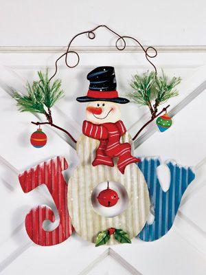 Snowman Joy Christmas Wall Decor Winter Wonderland Pinterest - outdoor snowman christmas decorations