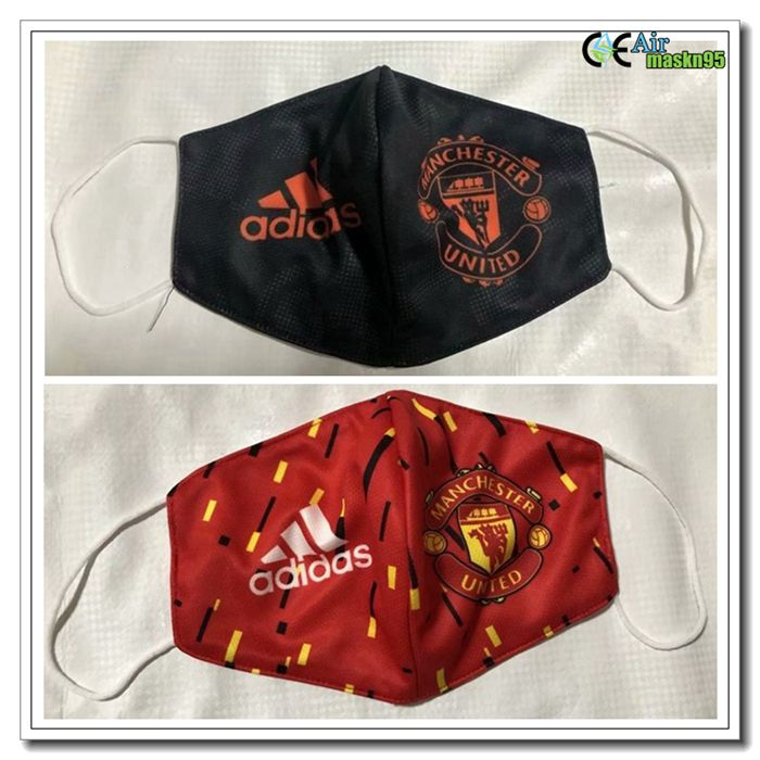 2 Pieces Manchester United 3m92 Reusable Dust Mask Kn95 Ffp2 In 2020 Manchester United Football Facemask Manchester