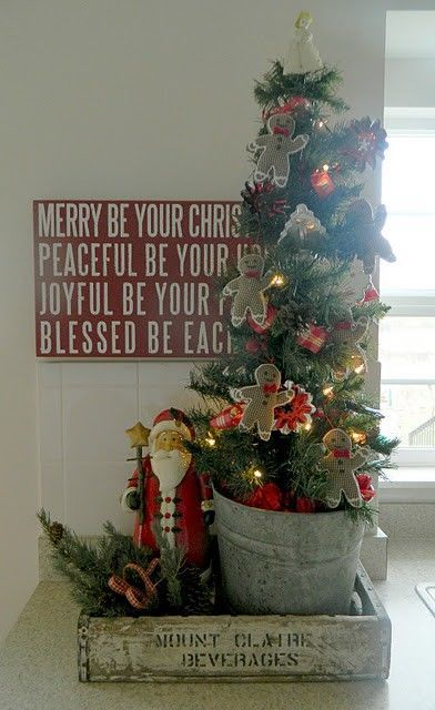 Mish Mash Junkin\u0027 finds + Pinterest inspiration + some junkin - how to decorate a small christmas tree