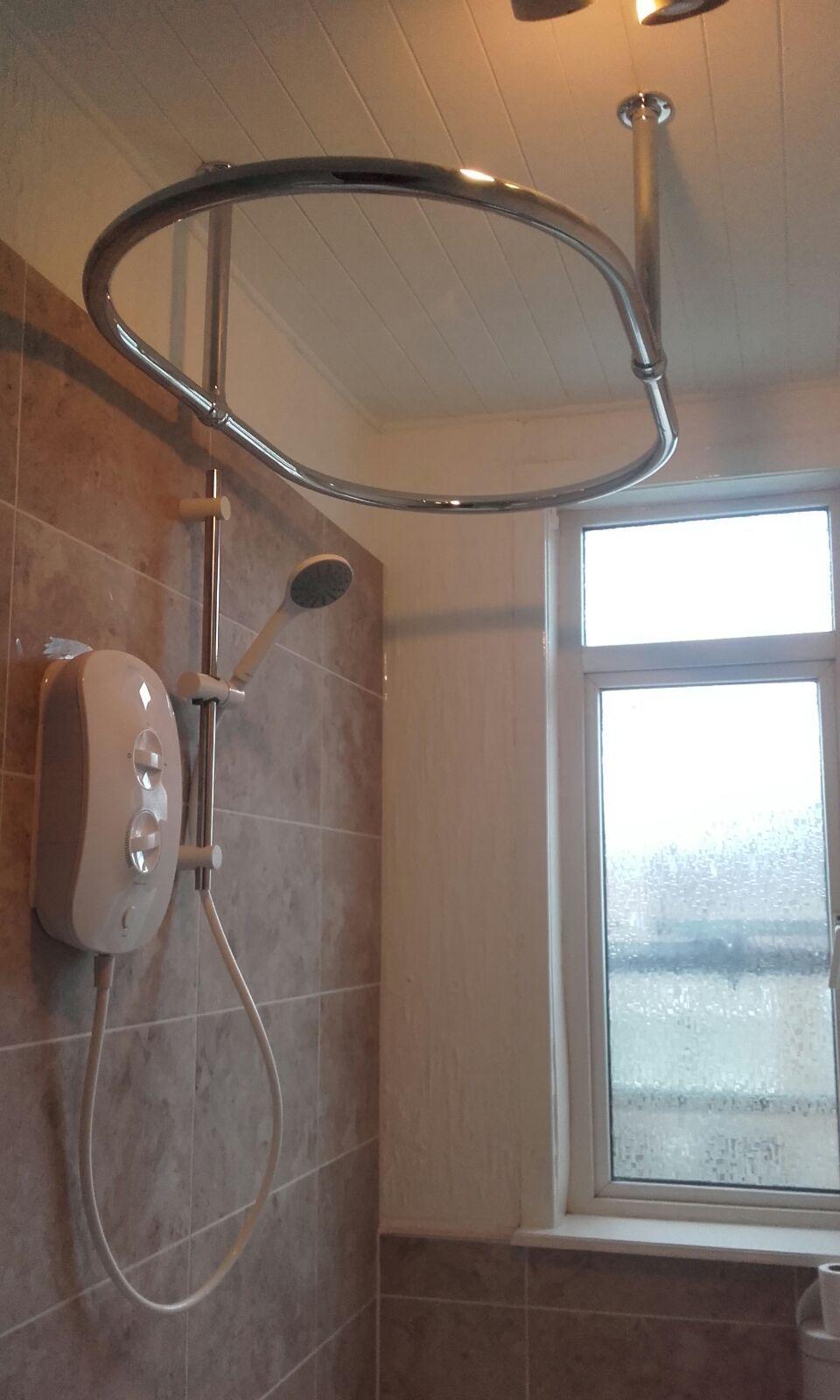 Shower Curtain Ring Installation In Bramley By Uk Bathroom Guru Modern Bathroom Bathroom Shower Curtain Rings