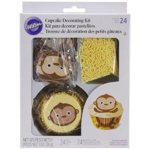 complete monkey cupcake decorating kitmdb baby showermonkey