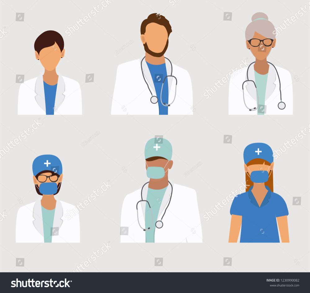 Medical Staff Avatars Set Doctors Team Vector Icons Avatar Medical Vector Illustration