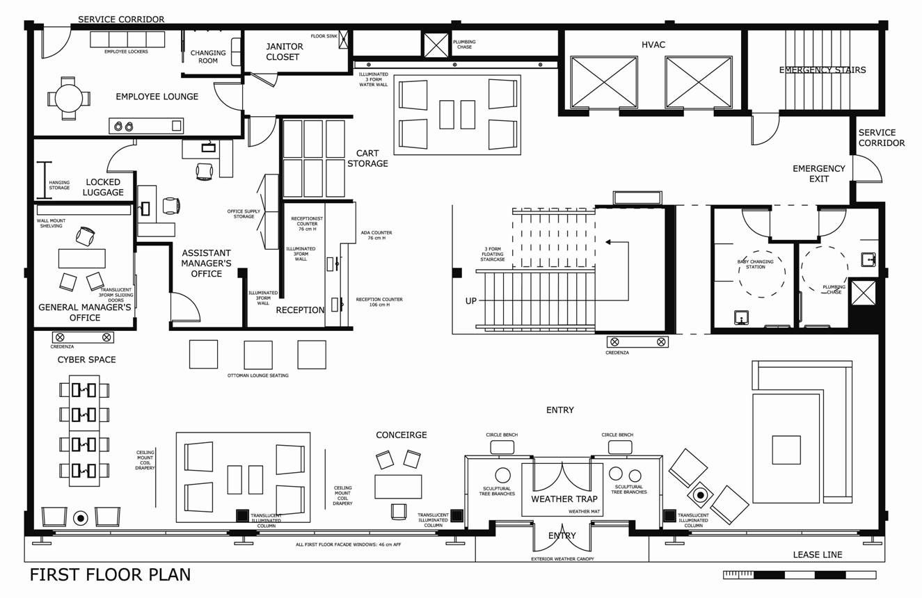 Typical boutique hotel lobby floor plan google search for Hotel design standards
