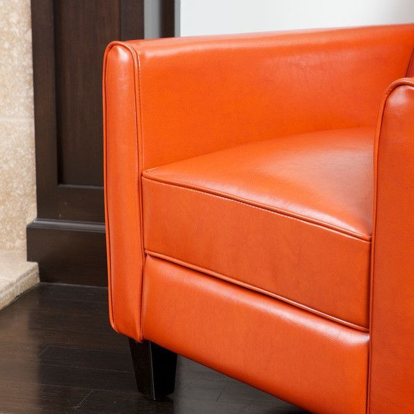 Best Christopher Knight Home Darvis Tan Black Orange Leather 400 x 300