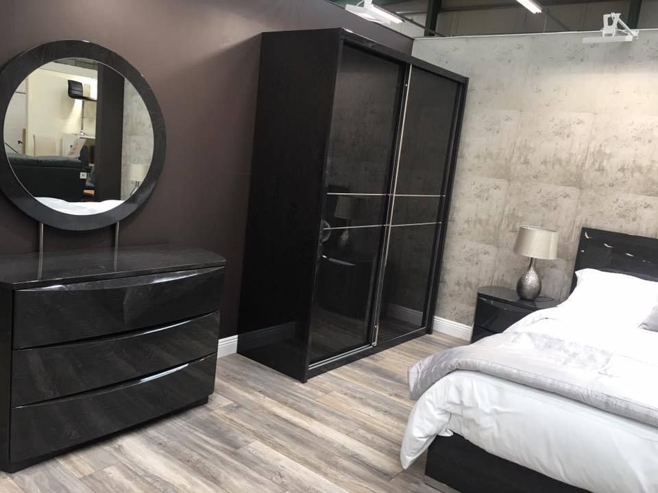 Moda Grey Gloss Bedroom Furniture A Contemporary Sleek Collection Of Modern Made From Wood