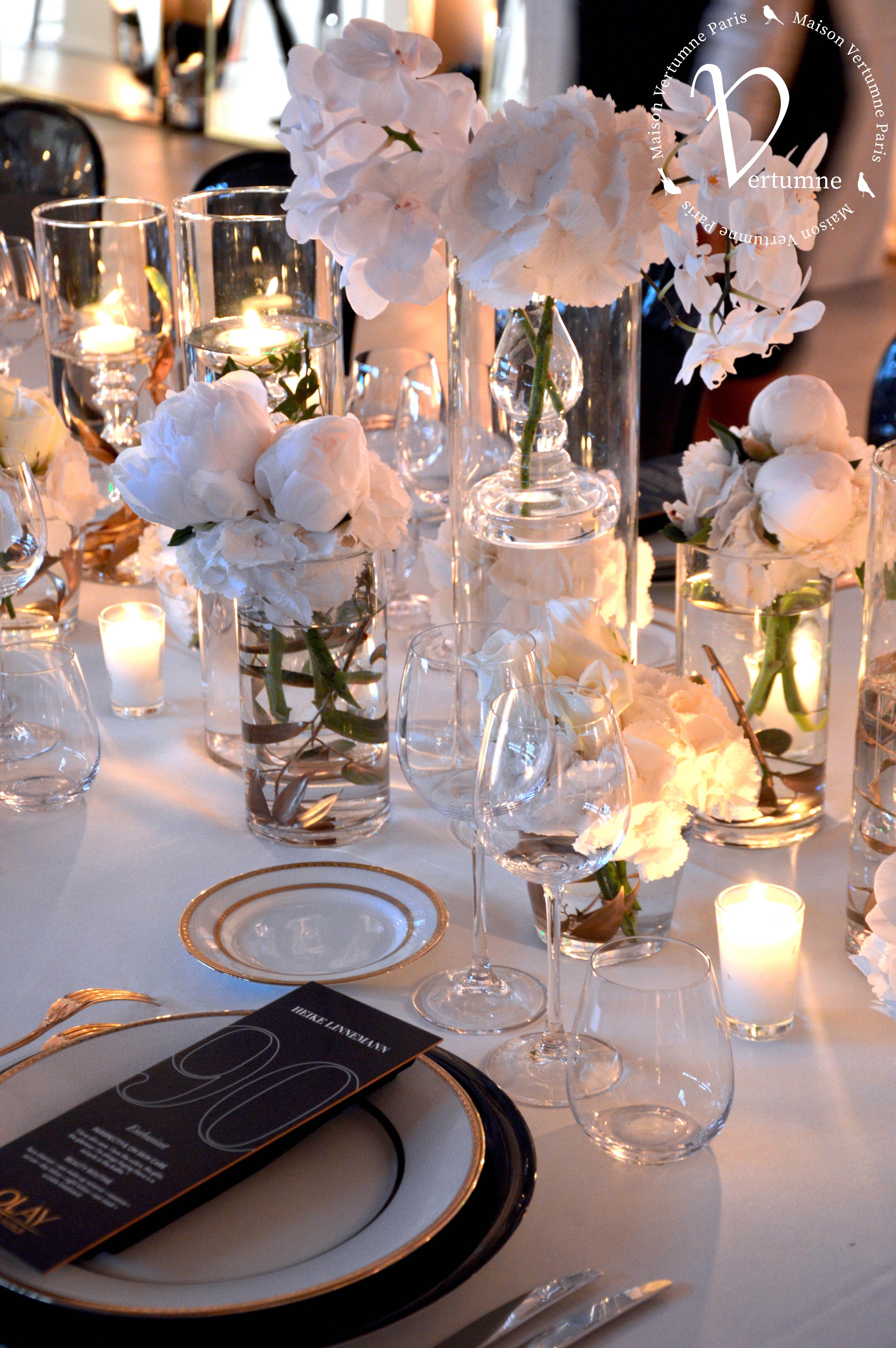 Bougie Décoration De Table décortable #déco #florale~#fleurs #bougies #vase #olay
