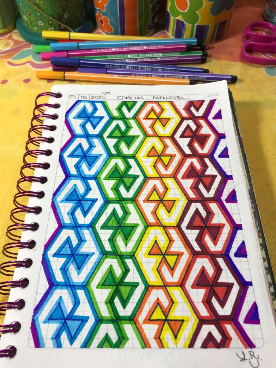 Cometas Papalotes Dibujos De Geometria Dibujos En Cuadricula Dibujos De Puntos
