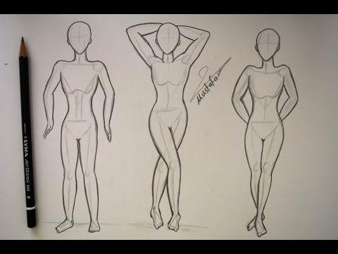 فيديو لتعلم رسم المانيكان تصميم الازياء Fashion Illustrations Design And Coloring Silk Youtube Human Drawing Art Drawings Step By Step Drawing
