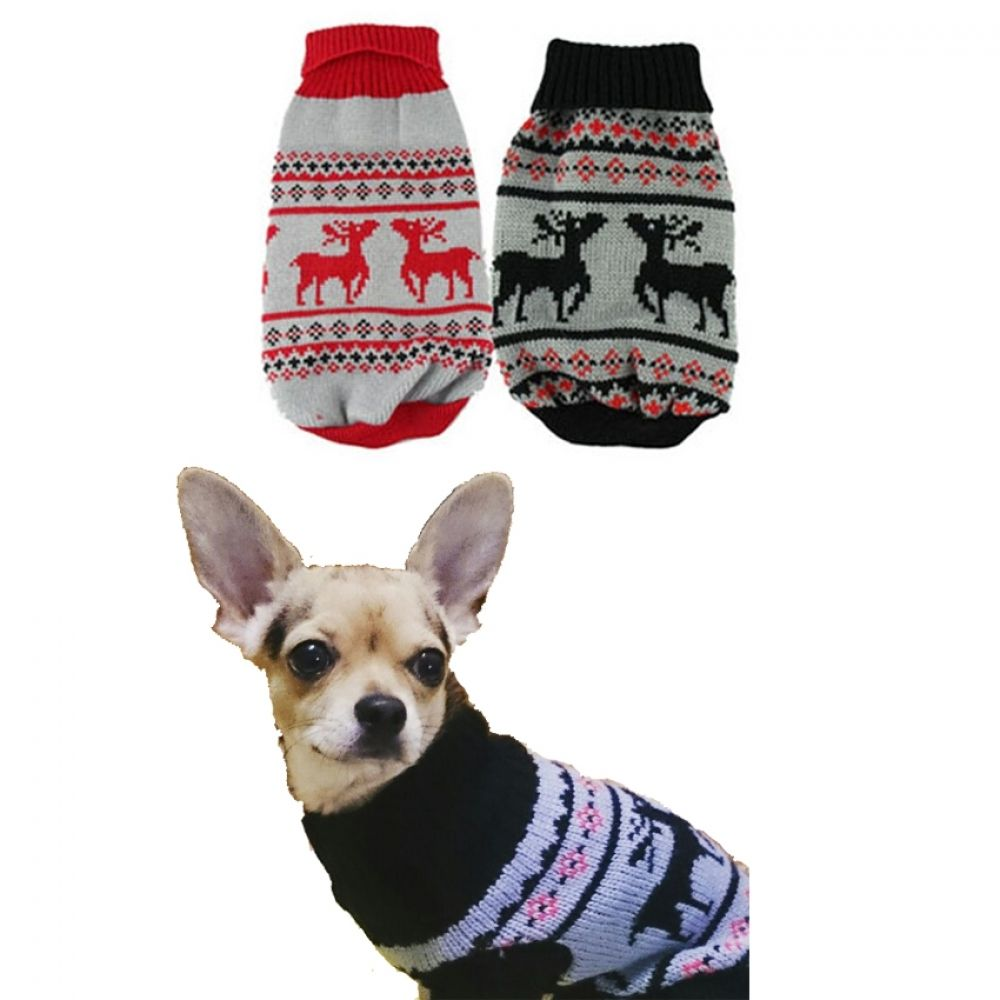 Christmas Sweater For Chihuahua Dog Sweaters Dog Coats