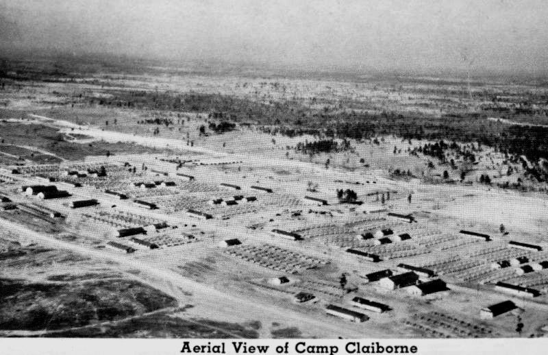 Aerial view of Camp Claiborne near Alexandria, Louisiana ...