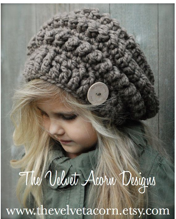 Crochet PATTERN-The Stormlyn Slouchy (Toddler, Child, and Adult ...