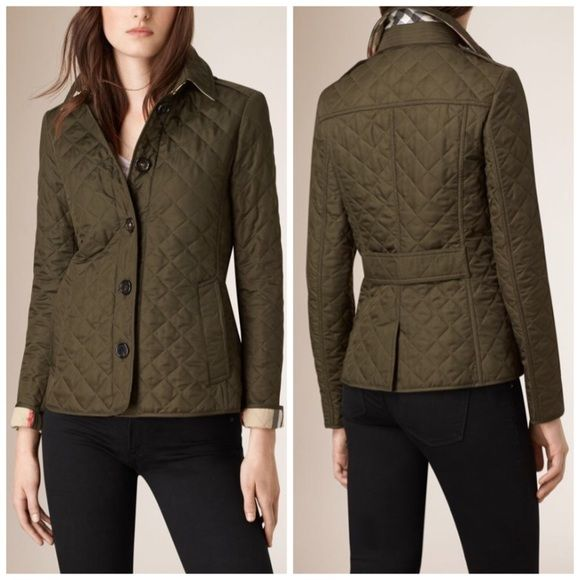 Nwt Burberry Brit Ashurst Diamond Quilted Jacket Burberry Quilted Jacket Quilted Jacket Clothes Design