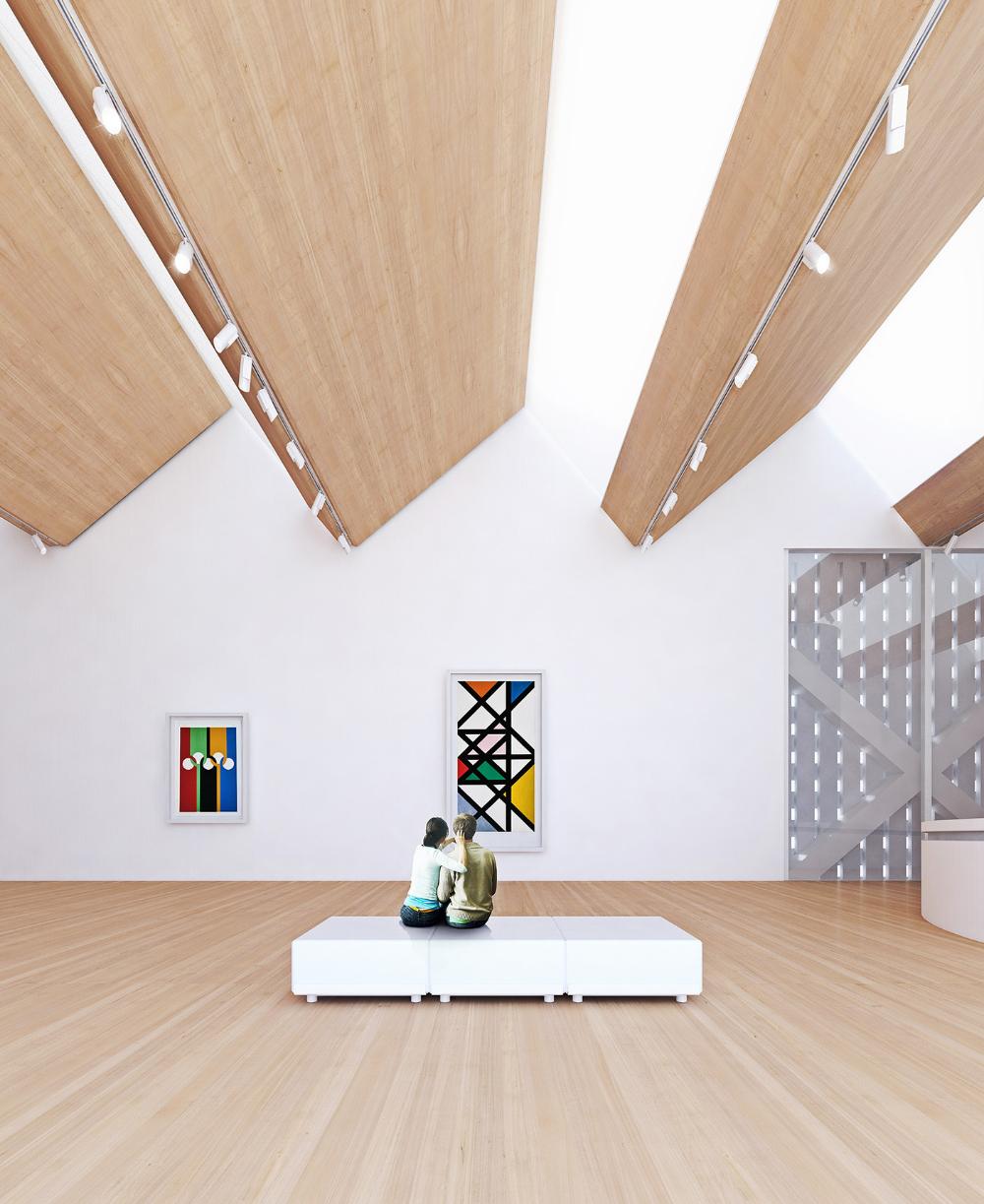 The New Bauhaus Museum on Behance Museum interior, Art