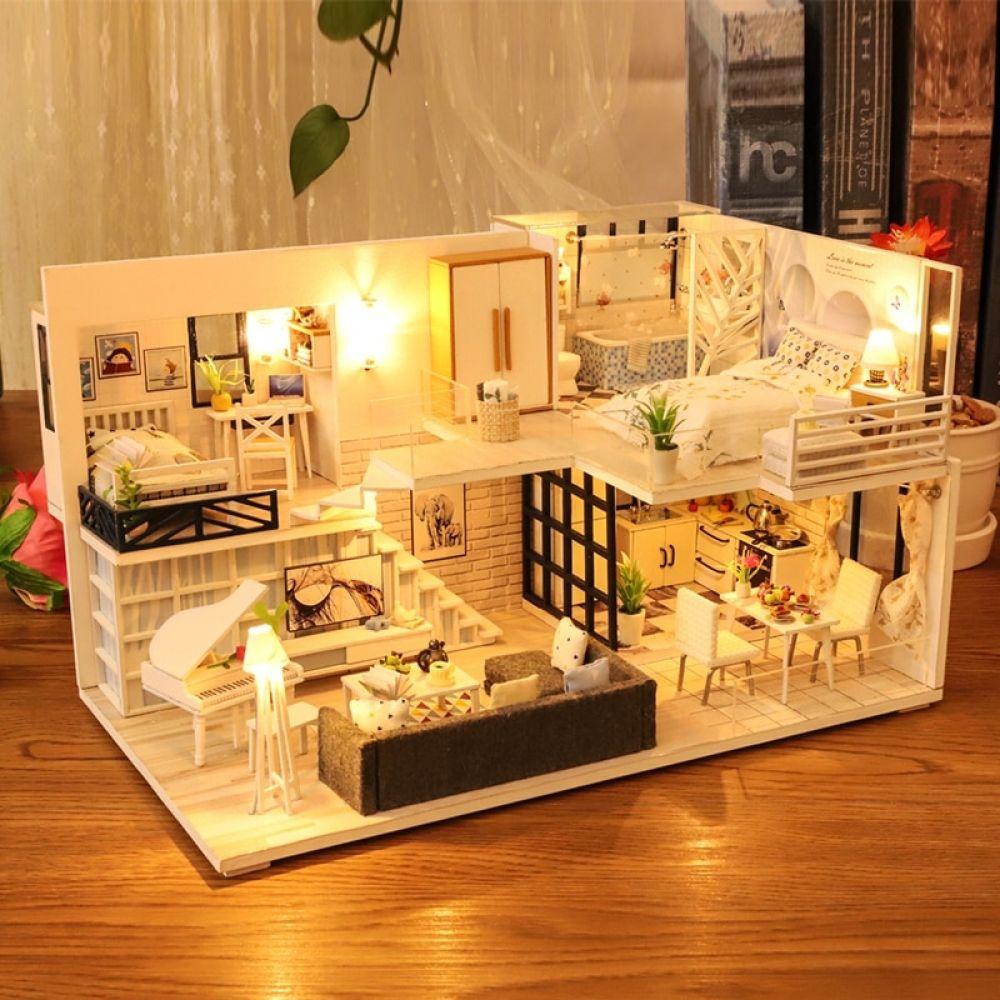 Diy Miniature A Dream House Dollhouse Miniatures Diy Mini Doll House Tiny House Design