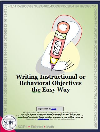 Writing Measurable Lesson Plan Objectives the Easy Way Pinterest - lesson plan objectives