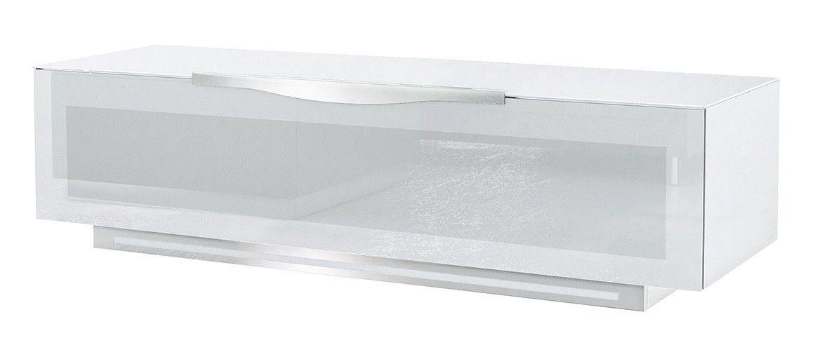 meuble tv design munari 1 portes en verre tremp depoli blanc pavia 150 cm - Meuble Tv Design Italien Munari