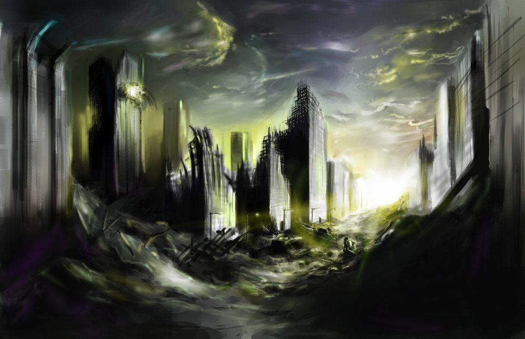 destroyed city street concept art - Google Search   Art ...